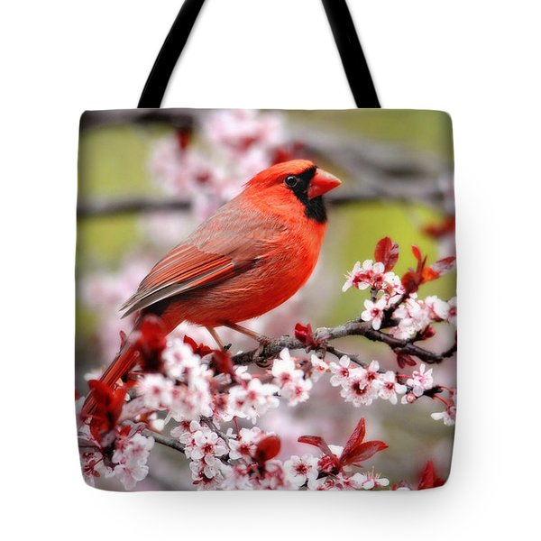 Beautiful Northern Cardinal Tote Bag
