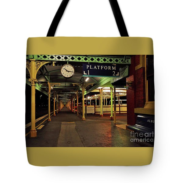 Tote Bag featuring the photograph Beautiful Old Albury Station By Kaye Menner by Kaye Menner