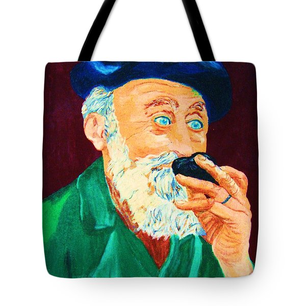 Beautiful Old Blue Eyes Tote Bag by Carole Spandau
