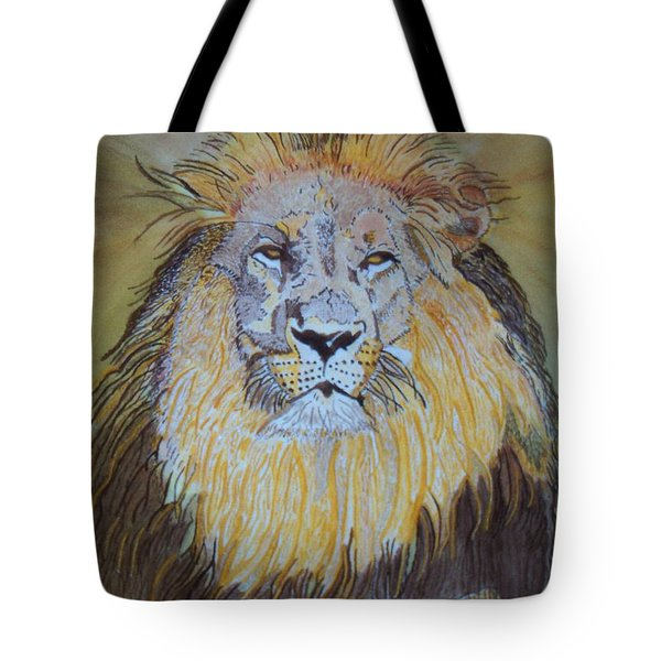 Tote Bag featuring the painting Beautiful Pose Of The King by Connie Valasco