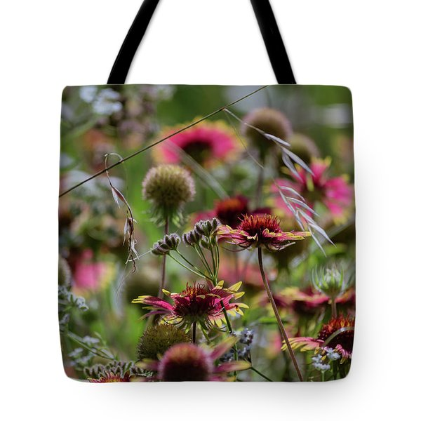 Beautiful Purple And Yellow Wildflowers Tote Bag