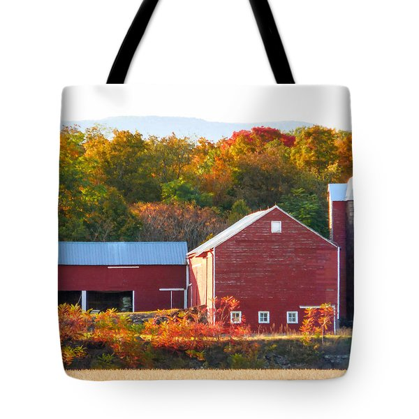 Beautiful Red Barn 2 Tote Bag by Lanjee Chee