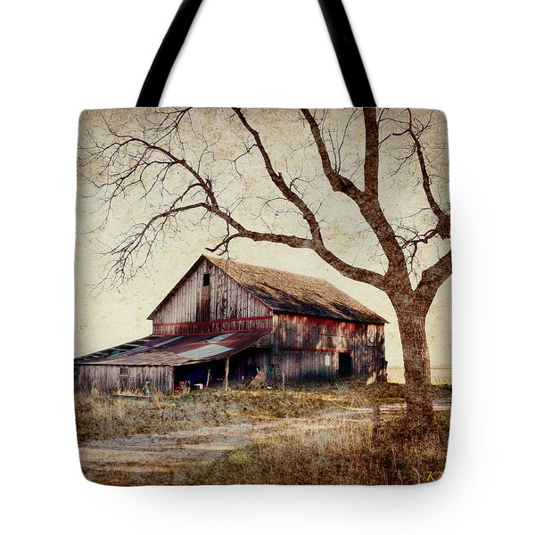 Beautiful Red Barn-near Ogden Tote Bag by Kathy M Krause