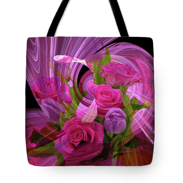 Beautiful Rose Bouquet Montage Tote Bag