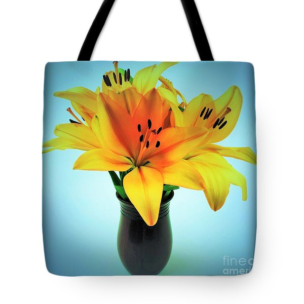 Tote Bag featuring the photograph Beautiful Royal Lilies  by Ray Shrewsberry