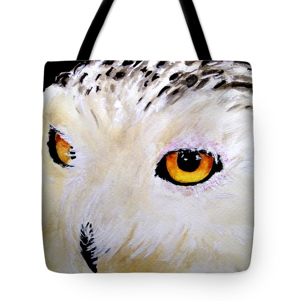 Beautiful Snowy Owl Tote Bag