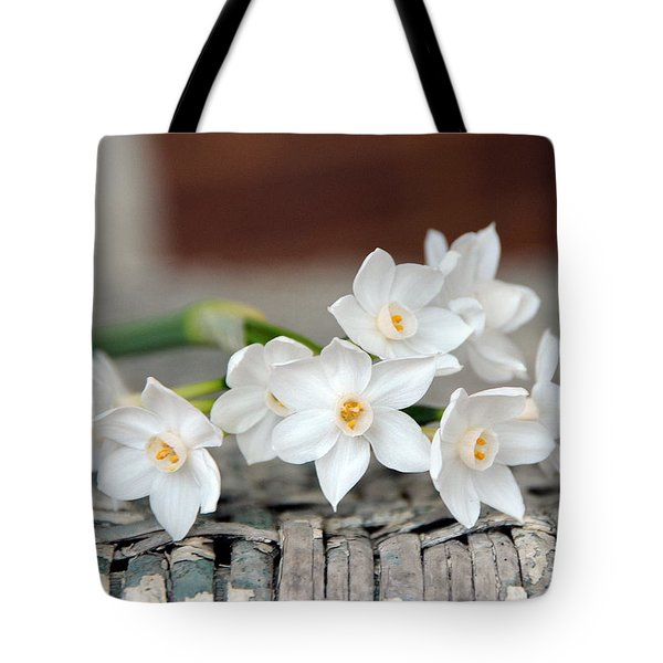 Beautiful Spring Paperwhites Tote Bag