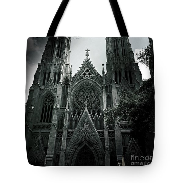 Beautiful St Patricks Cathedral Tote Bag by Miriam Danar