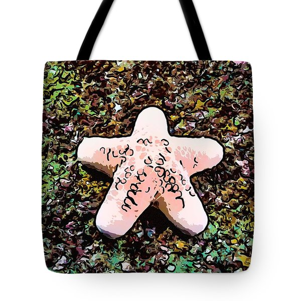 Beautiful Starfish In The Coral Reef Tote Bag by Lanjee Chee