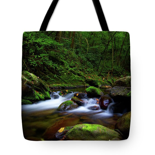 Beautiful Stream In Tremont Smoky Mountains Tennessee Tote Bag