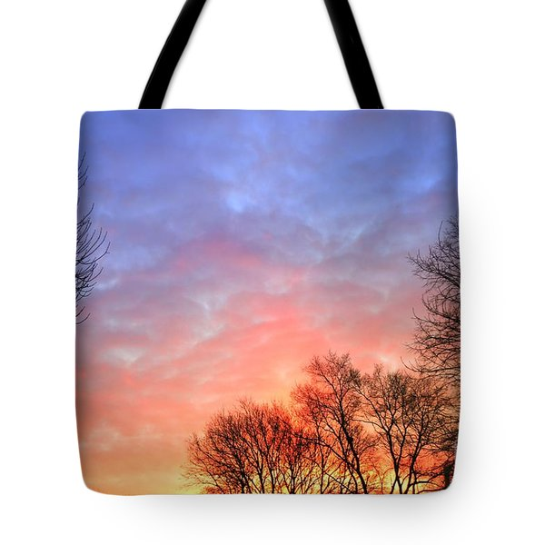 Beautiful Sunrise After Blizzard  Tote Bag