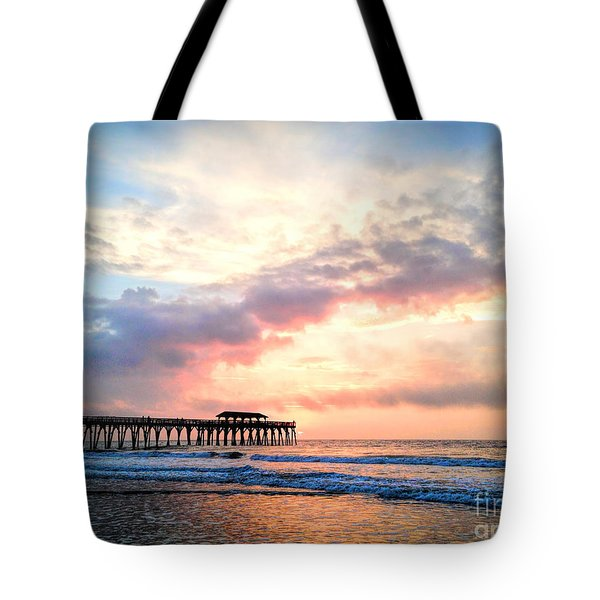 Beautiful Sunrise In Myrtle Beach South Carolina Usa Tote Bag