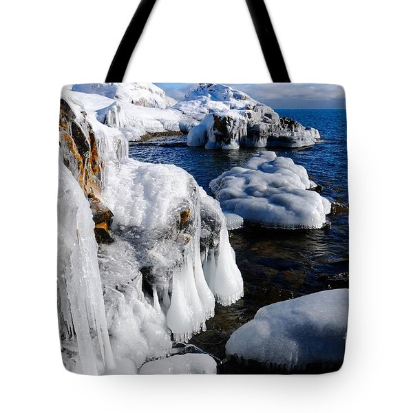 Beautiful Superior Ice Tote Bag by Sandra Updyke