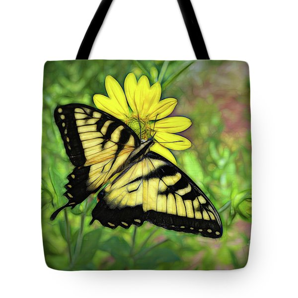 Beautiful Swallowtail Butterfly Tote Bag