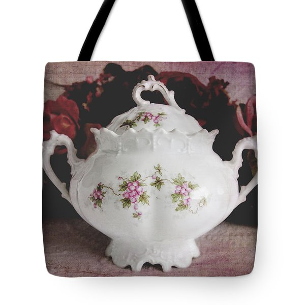 Tote Bag featuring the photograph Beautiful Victorian Bowl  by Trina Ansel