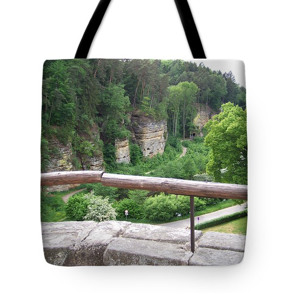 Beautiful View From The Castle Tote Bag