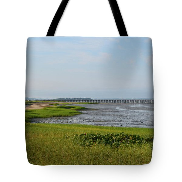 Beautiful Views Of Powder Point Bridge And Duxbury Bay Tote Bag
