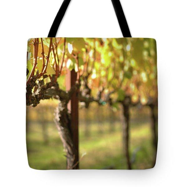 Beautiful Vineyard In Napa Valley Tote Bag