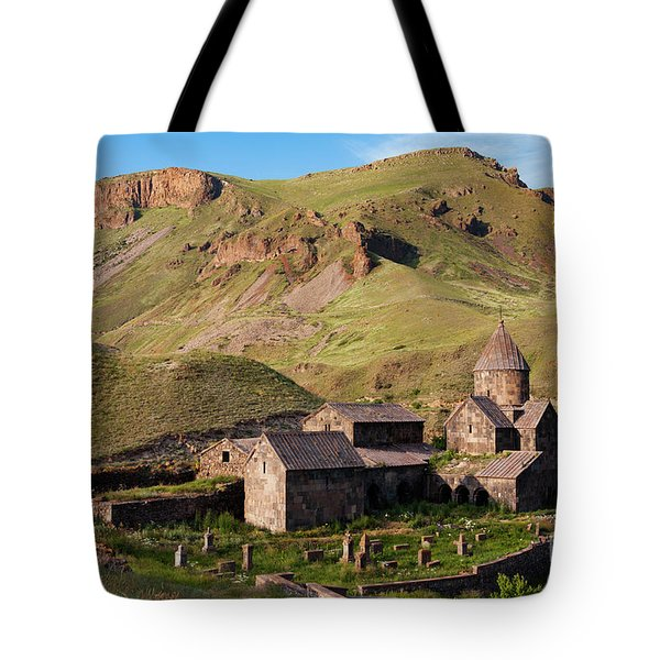 Beautiful Vorotnavank Monastery At Evening, Armenia Tote Bag