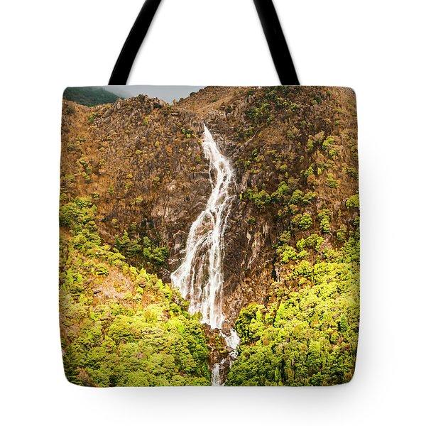 Beautiful Waterfall In Sunlight Tote Bag