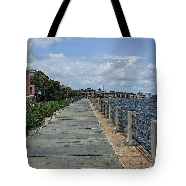 Beautiful Waterfront Walkway Tote Bag