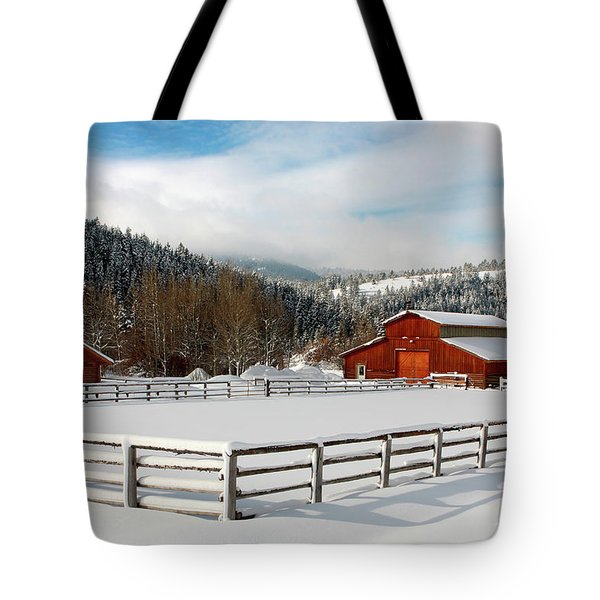 Tote Bag featuring the photograph Beautiful Winter Morning by Ronnie and Frances Howard
