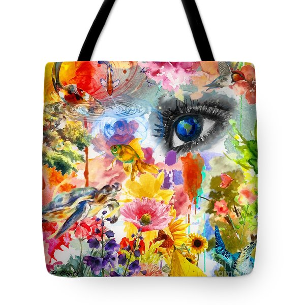 Tote Bag featuring the painting Beautiful World by Elizabeth Coats