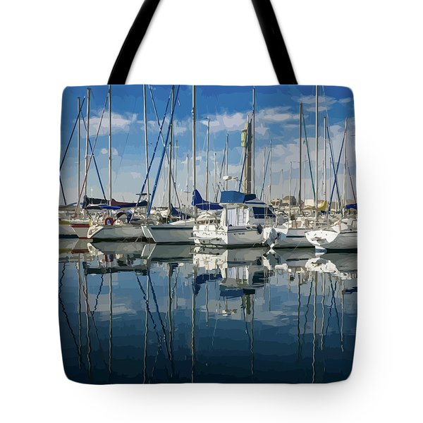 Beautiful Yachts Moored In The Marina Tote Bag