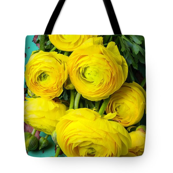 Beautiful Yellow Ranunculus Tote Bag