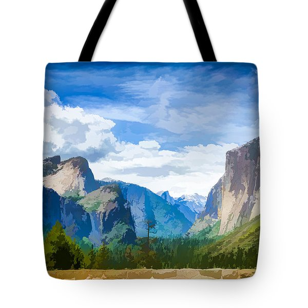 Beautiful Yosemite National Park Tote Bag by Lanjee Chee