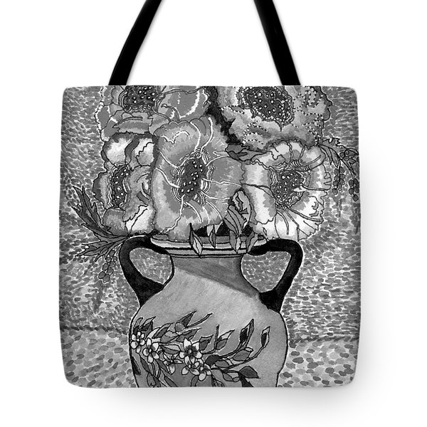Beauty Black And White Tote Bag