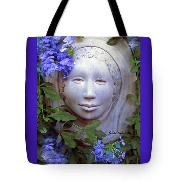 Beauty Blue Tote Bag by Debbie Chamberlin