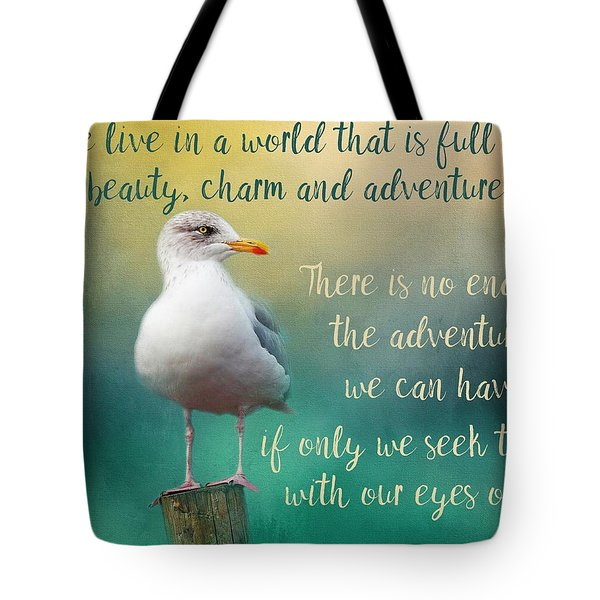 Beauty, Charm And Adventure Tote Bag