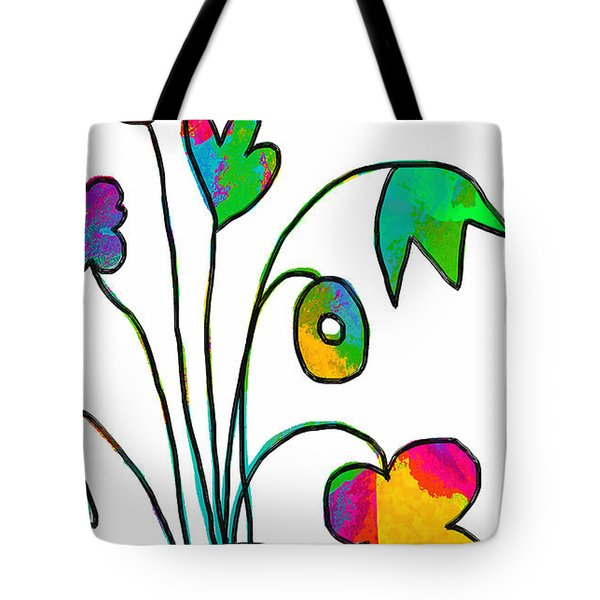 Tote Bag featuring the painting Beauty Everywhere by Lisa Weedn