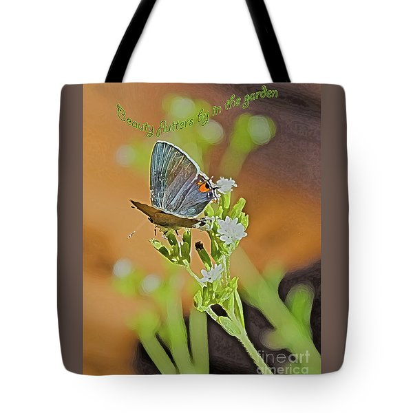 Beauty Flutters By Tote Bag