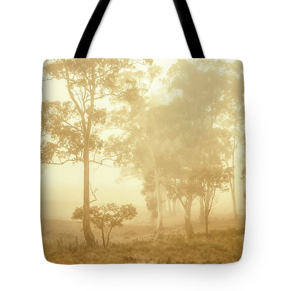 Beauty In A Forest Fog Tote Bag