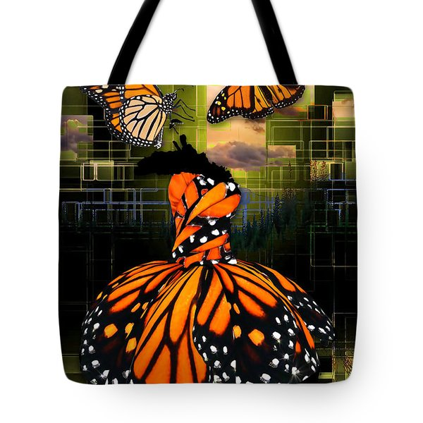 Tote Bag featuring the mixed media Beauty In All Things by Marvin Blaine