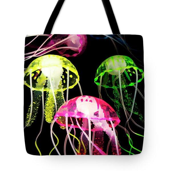 Beauty In Black Seas Tote Bag