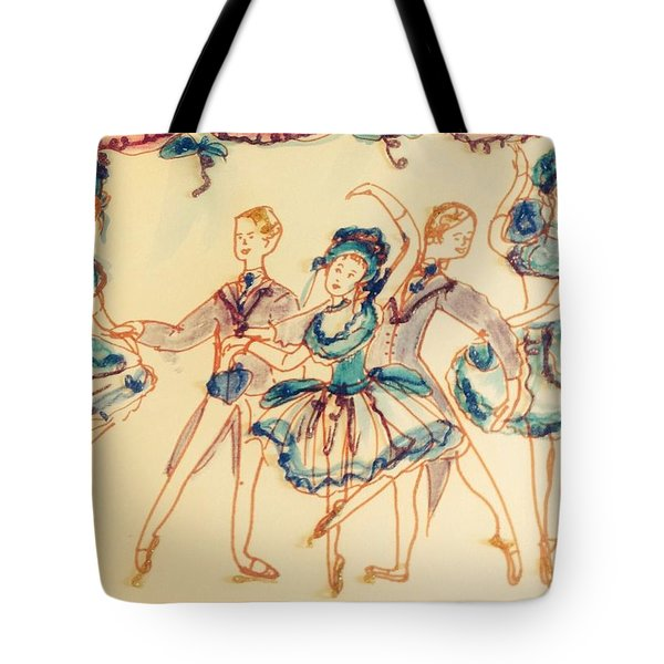 Beauty In Blue Ballet  Tote Bag