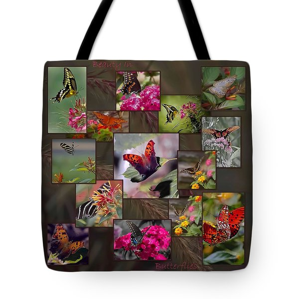 Beauty In Butterflies Tote Bag by DigiArt Diaries by Vicky B Fuller