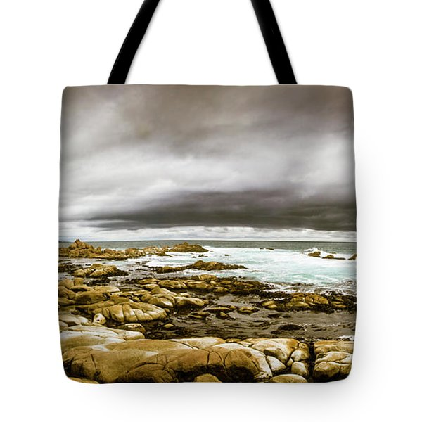 Beauty In Oceanic Drama Tote Bag