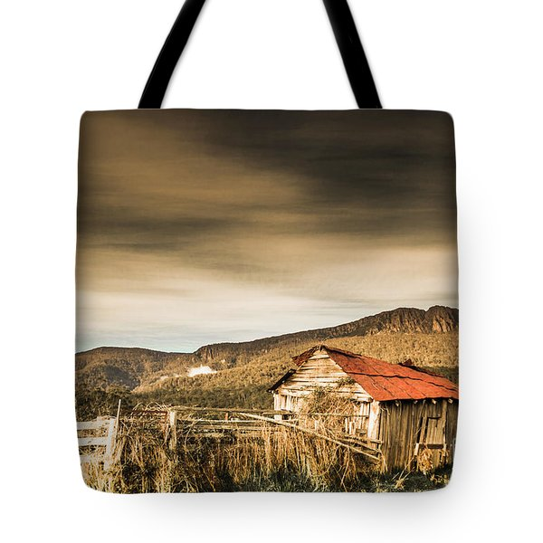 Beauty In Rural Dilapidation Tote Bag