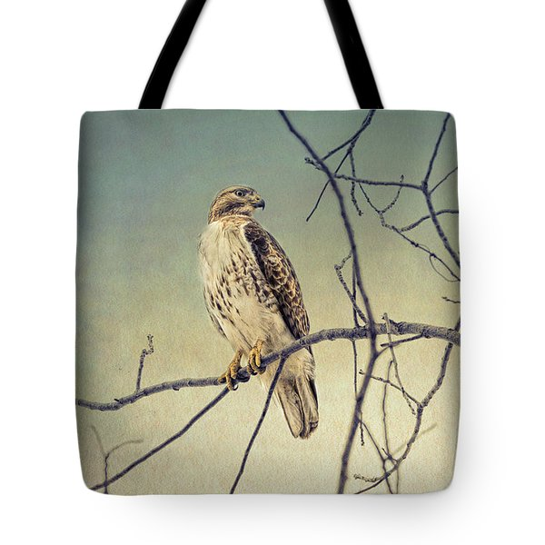 Red-tailed Hawk On Watch Tote Bag