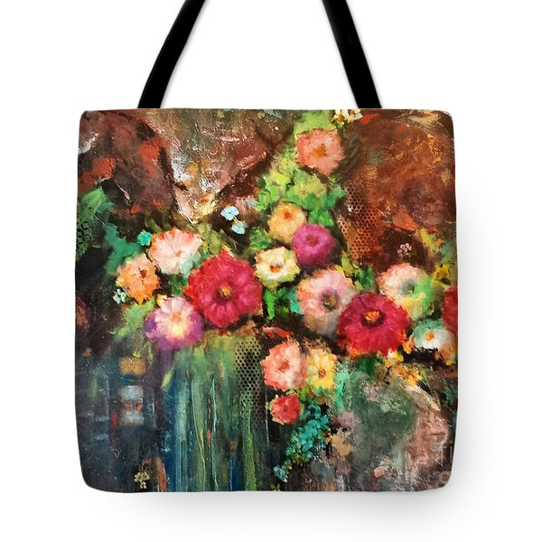 Beauty In The Cracks Tote Bag by Frances Marino