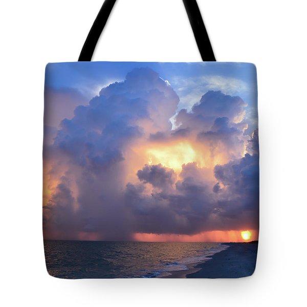 Tote Bag featuring the photograph Beauty In The Darkest Skies II by Melanie Moraga