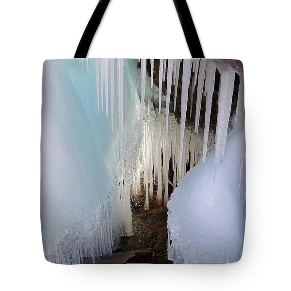 Beauty In The Ice Tote Bag by Sandra Updyke