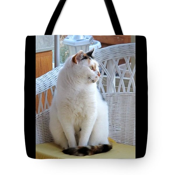 Tote Bag featuring the photograph Beauty In White by Phyllis Kaltenbach