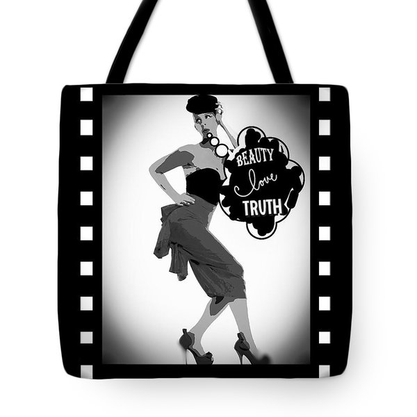 Beauty Love Truth Tote Bag by Lisa Piper