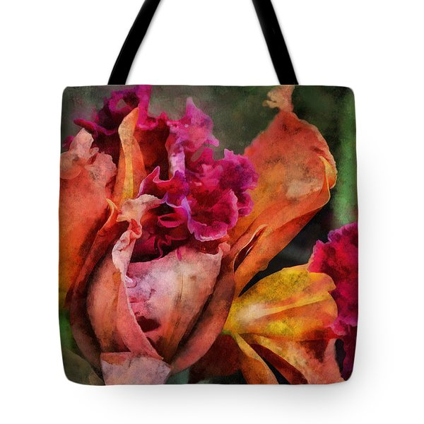 Tote Bag featuring the mixed media Beauty Of An Orchid by Trish Tritz