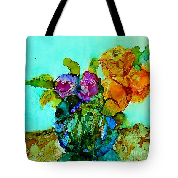 Tote Bag featuring the painting Beauty Of Flowers by Priti Lathia